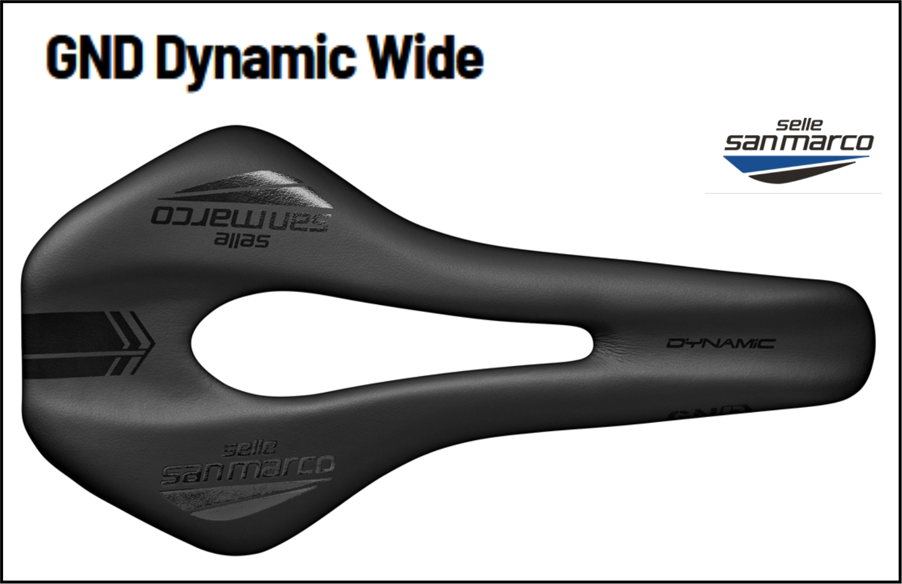 Selle San Marco GND Open Fit Dynamic Wide  Size S & L
