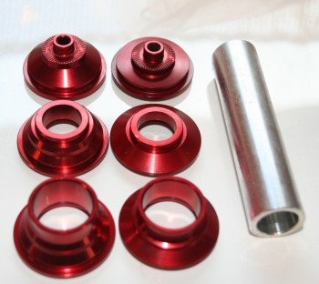 Endcaps for Gunsha Enduro Front Hubs  9-20 mm