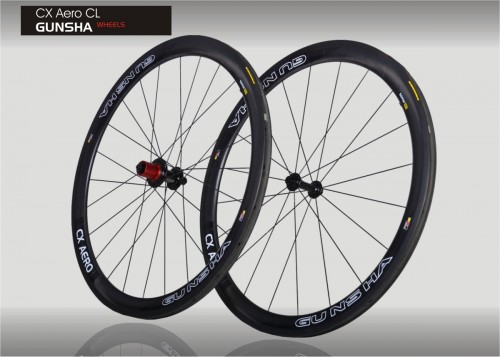 Gunsha CX Aero CL - Clincher Carbon LRS - 3 J. Garantie
