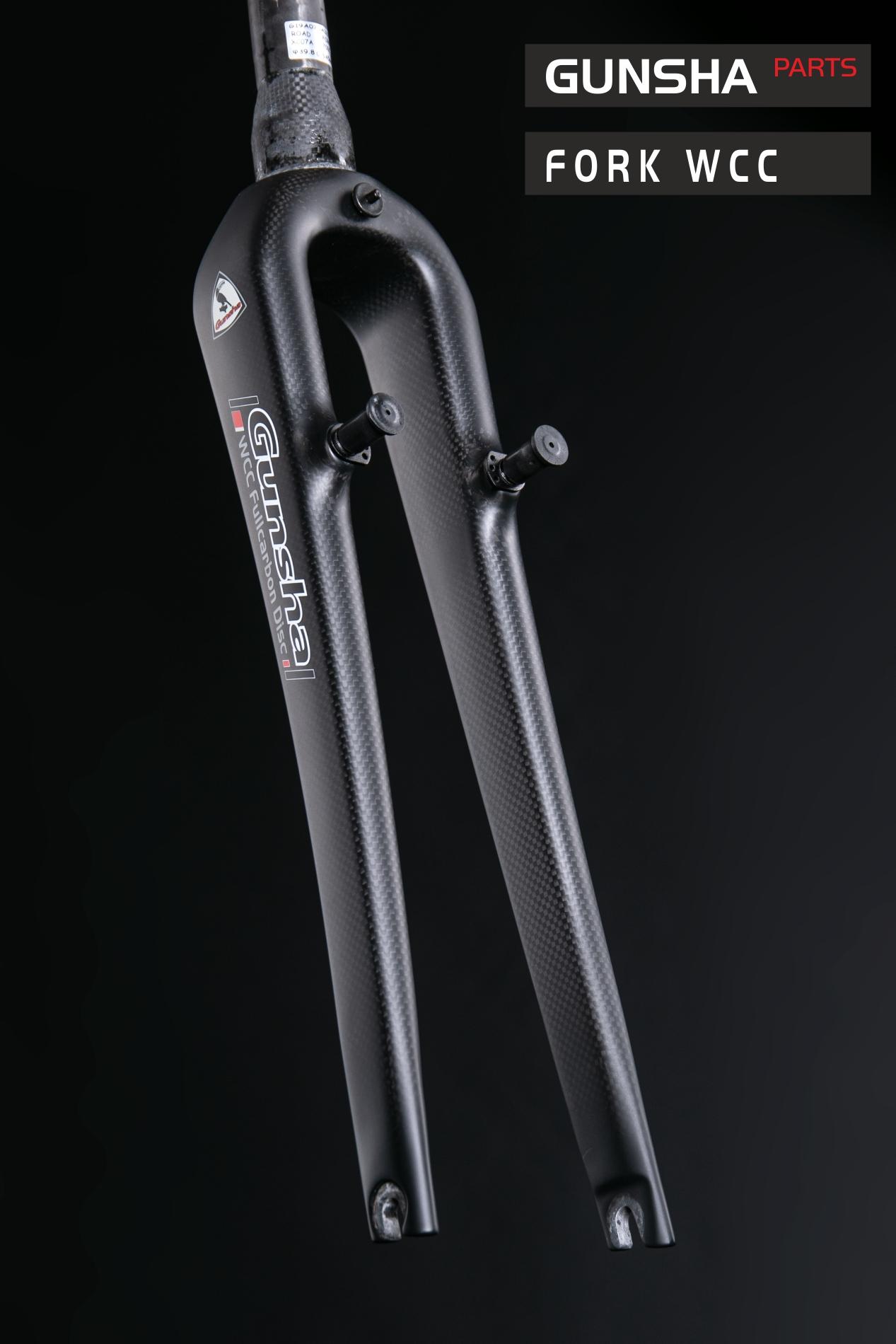 Cyclocross Fullcarbon Fork Gunsha WCC Tapered