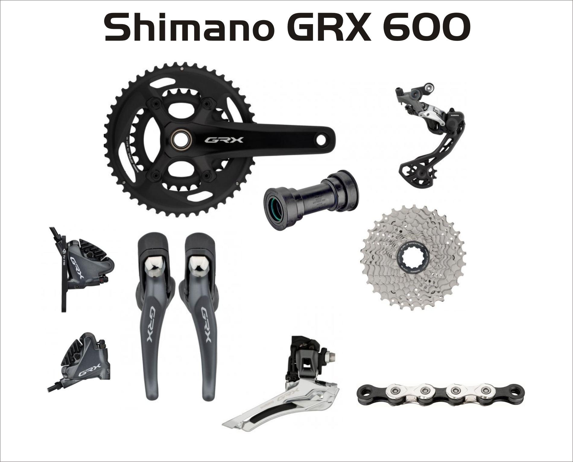 Group  Shimano GRX 600 2-fach