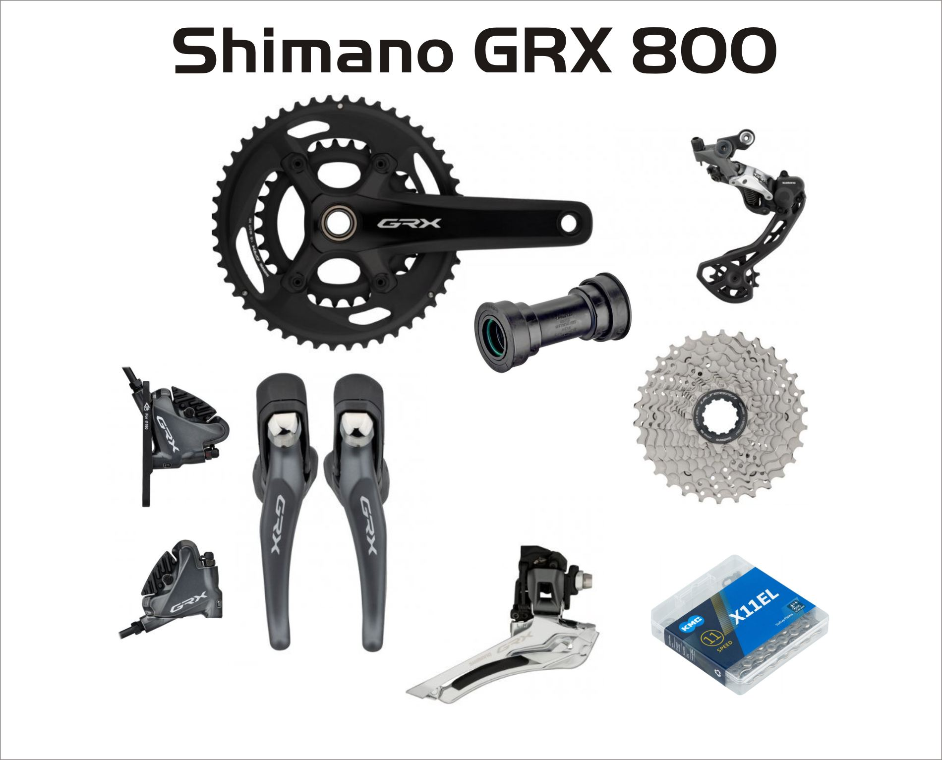 Group  Shimano GRX 800 2-fach