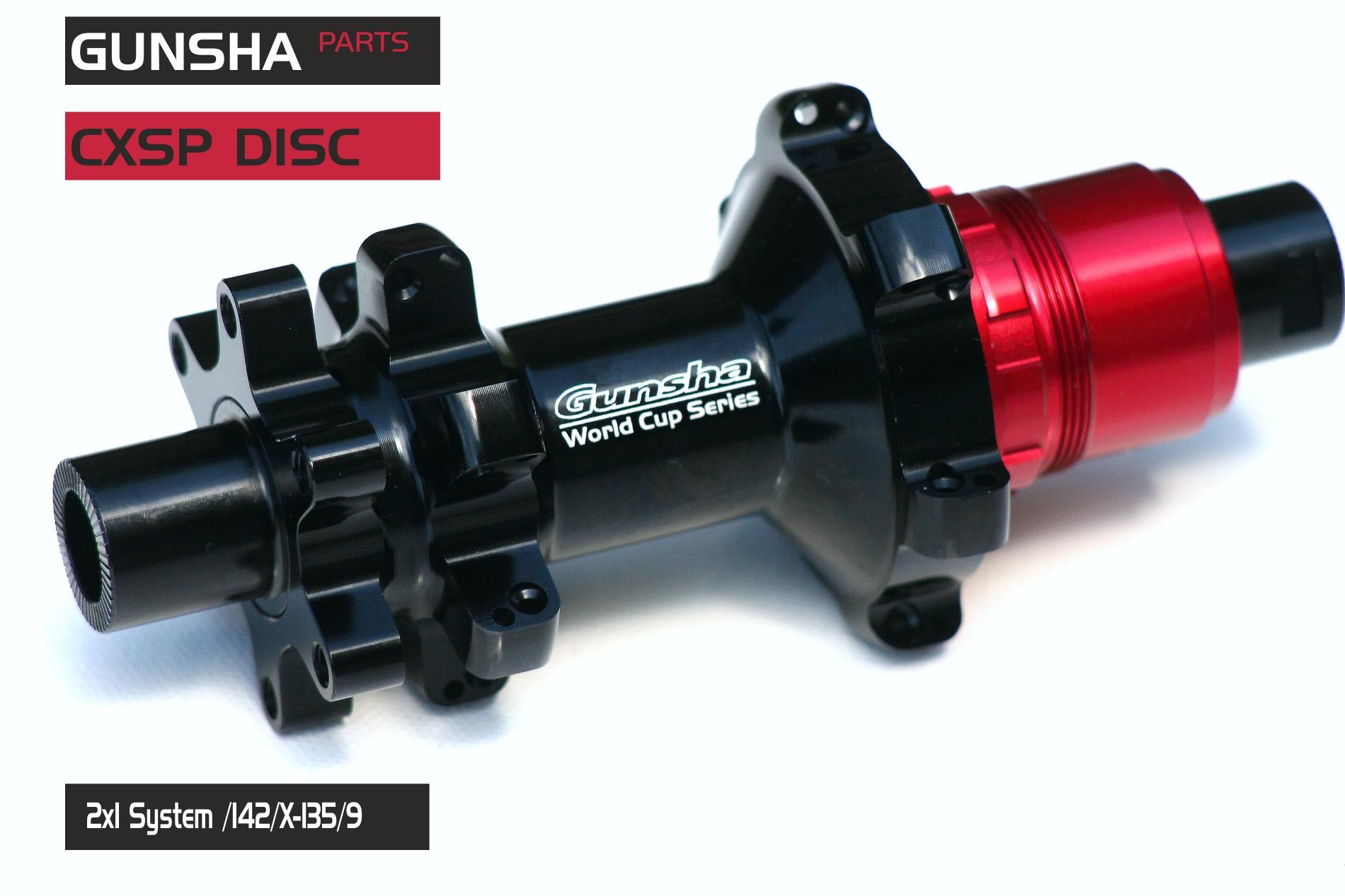 Gunsha Rear Hub Nabe CXSP Straightpull (2x1 System)